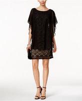 R & M Richards Lace Capelet Dress