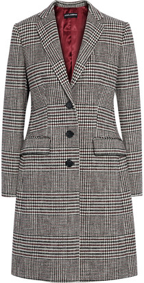 Dolce & Gabbana Prince Of Wales Checked Cotton-blend Coat