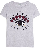 Kenzo Icon Printed Cotton-jersey T-shirt - Light gray