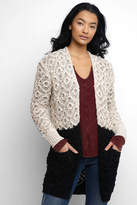 Neely Textured Pattern Color Block Cardigan
