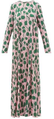 La DoubleJ Trapezio Floral-print Maxi Dress - Pink Print