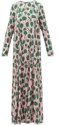 La DoubleJ Trapezio Floral-print Maxi Dress - Womens - Pink Print