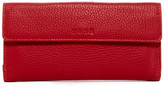 Tusk Flapover Leather Clutch Wallet