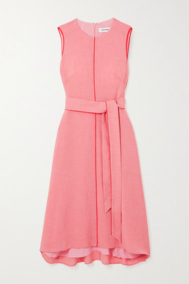 Cefinn Belted Voile Midi Dress - Pink