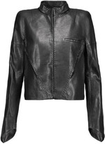 Haider Ackermann Satin-paneled leather jacket