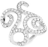 Michela Pave Scroll Ring