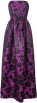 Carolina Herrera Floral sheen jacquard gown - women - Silk/Polyester - 4