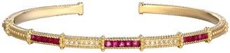 Judith Ripka 14K Gold Gemstone & Diamond Cuff Bracelet