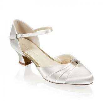 Paradox London Satin Dyeable 'Avalyn' Wide Fit Two Part Low Heel Shoe