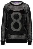 Ralph Lauren Beaded 8 Open-Worked Sweater Black Xs