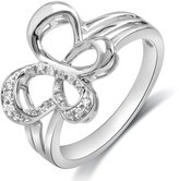 Jessica Simpson Sterling Silver Diamond Accent Butterfly Ring