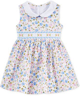 Bonnie Baby Smocked Floral-Print Dress, Baby Girls (0-24 months)