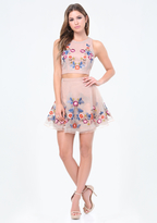 Bebe Embroidered 2-Piece Dress