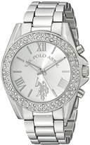 U.S. Polo Assn. Women's USC40035 Rhinestone-Accented Silver-Tone Watch