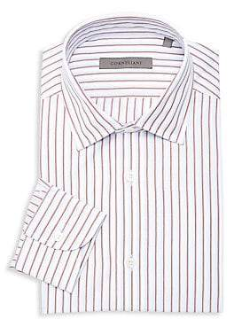 Corneliani Men's Shadow Stripe Dress Shirt