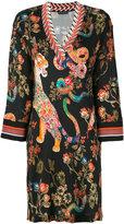 Etro - oriental print dress