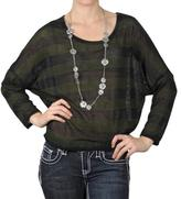 Journee Collection Women's Striped Scoop Neck Sweater