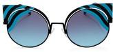 Fendi Round Cat Eye Sunglasses, 53mm