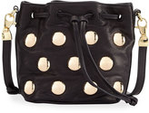 Cynthia Rowley Paisley Studded Leather Crossbody Bag, Black