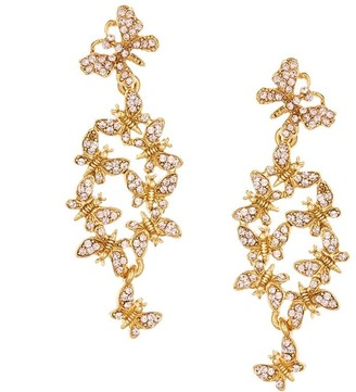 Oscar de la Renta 24kt gold-plated Butterfly Cluster earrings