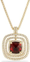 David Yurman Ch'telaine Pavé Bezel Enhancer with Garnet and Diamonds in 18K Gold