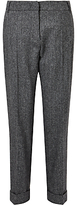 Max Mara Weekend Melfi Textured Trousers, Dark Grey