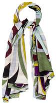 Emilio Pucci Silk & Wool Printed Scarf