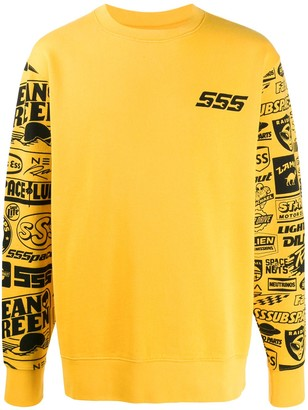 SSS World Corp Printed Sleeves Sweater