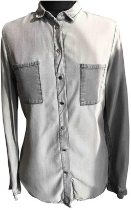 Tommy Hilfiger Grey Cotton Top for Women