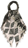 Etro Cashmere-Blend Patterned Scarf