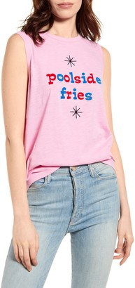 ban.do Poolside Fries Graphic Muscle Tee