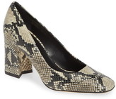 Via Spiga Beatrice Snakeskin Embossed Pump