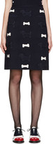 Thom Browne Navy Hector Appliqué Skirt