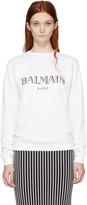 Balmain - Pull à logo blanc