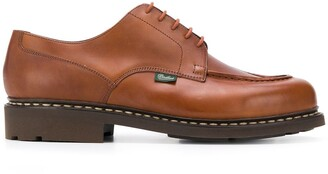 Paraboot Exposed-Stitched Leather Shoes