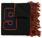 MSGM logo knitted scarf