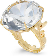 Kate Spade Gold-Tone Clear Crystal Cocktail Ring
