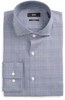 BOSS Men's Slim Fit Plaid Dress Shirt