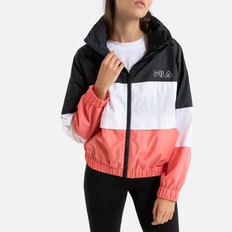 Fila Agrata Zip-Up Logo Jacket with High-Neck