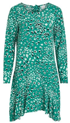 Dorothy Perkins Womens Vila Green Peplum Swing Dress, Green