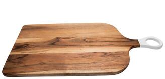 BIDKhome Acacia Wood Cutting Board With White Handle