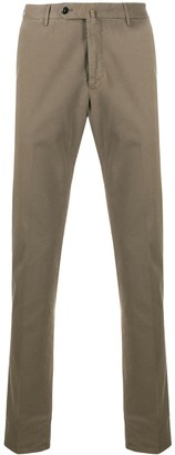 Pt01 Tapered Cotton Blend Trousers