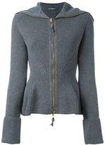 Alexander McQueen peplum knit jacket