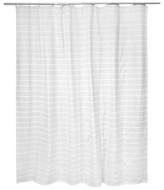 "Threshold Light Stripe Shower Curtain - Grey/White (72""x72"")"