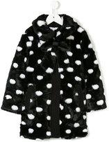 Little Marc Jacobs faux fur coat - kids - Cotton/Modacrylic/Polyester - 4 yrs