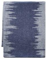 Williams-Sonoma Williams Sonoma Ikat Stripe Lambswool Throw, Blue