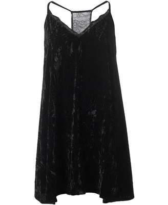 French Connection Velvet Lace Slip Dress Colour: BLACK, Size: 8