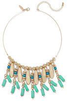 New York & Co. Faux-Turquoise Goldtone Collar Necklace