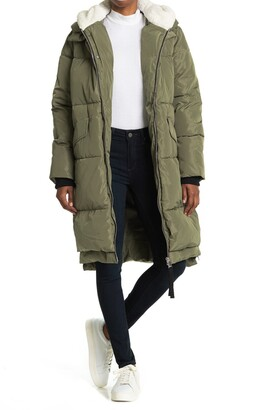 Bagatelle Faux Shearling Long Parka Jacket