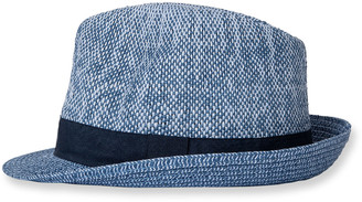 Paul Smith Men's Two-Tone Straw Trilby Hat